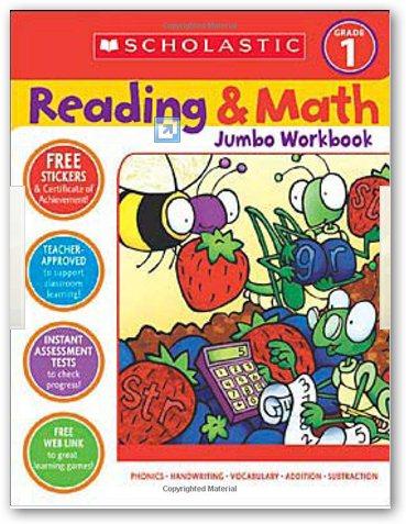 Reading & Math Jumbo Workbook: Grade 1 美國小學一年級嬝版M數學綜合練習本