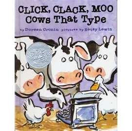 Click, Clack, Moo 會打字的牛(平裝繪本)(僅供學校單位購買)