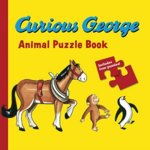 Curious George Animals Puzzle Book 好奇喬治拼圖書:動物篇