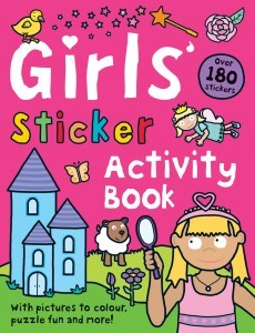 Girls' Sticker Activity Book 女孩主題貼紙書