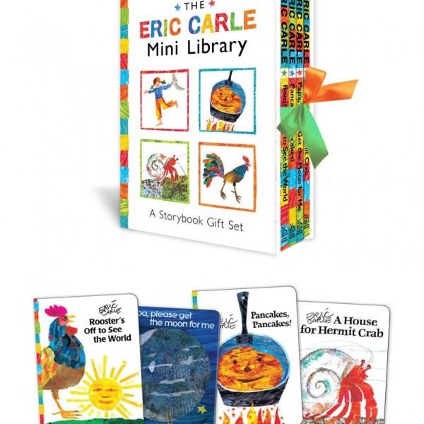 The Eric Carle Mini Library艾瑞卡爾的迷你圖書館繪本禮物組(4本圖畫書)